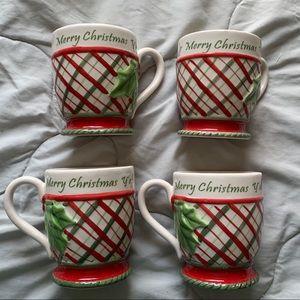 Other - Merry Christmas Y'all 4Pc Holiday Mug Set